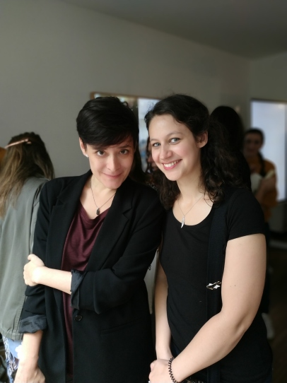 Avec Estelle Faye